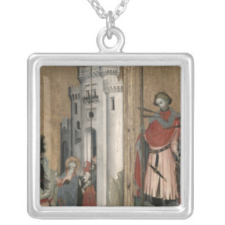 St. Andrew Chasing Demons from the Town Square Pendant Necklace