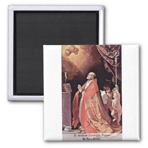 St Andrew Corsini en rezo de Reni Guido Imán Cuadrado