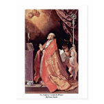 St Andrew Corsini en rezo de Reni Guido Postal