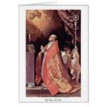 St Andrew Corsini en rezo de Reni Guido Tarjeta De Felicitación