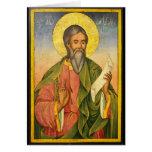St Andrew el apóstol por Yoan de Gabrovo Tarjeta De Felicitación