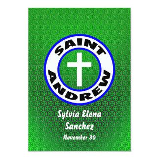 """St Andrew invita Invitación 5"""" X 7"""""""