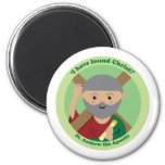 St. Andrew the Apostle 2 Inch Round Magnet