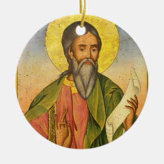 St. Andrew the Apostle by Yoan From Gabrovo Ceramic Ornament