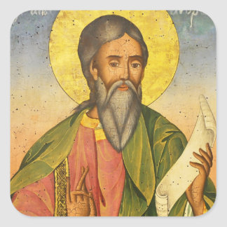 St. Andrew the Apostle by Yoan From Gabrovo Square Sticker