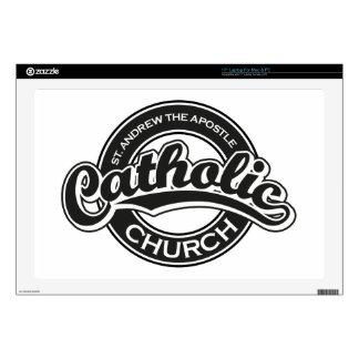 "St. Andrew the Apostle Catholic Church Black Skins For 17"" Laptops"