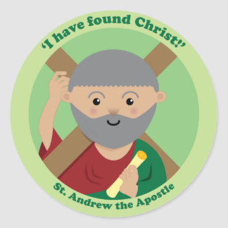 St. Andrew the Apostle Classic Round Sticker