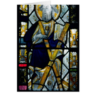 St. Andrew with Saltire Cross, British Card