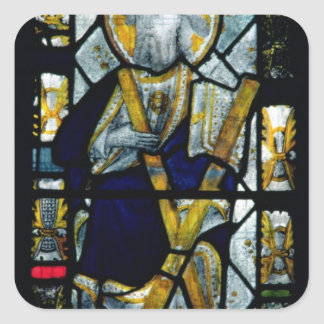 St. Andrew with Saltire Cross, British Square Sticker