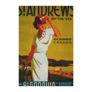 St. Andrews Algonquin Vintage PosterEurope Canvas Print