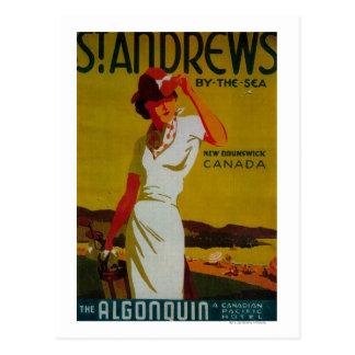 St. Andrews Algonquin Vintage PosterEurope Post Card