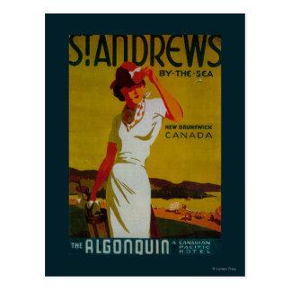 St. Andrews Algonquin Vintage PosterEurope Postcard