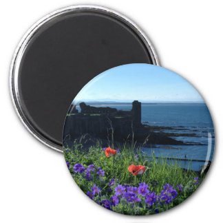 St Andrews Castle and Wild Flowers Magnet