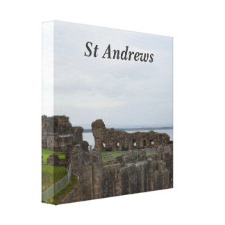 St Andrew's Castle Stretched Canvas Print