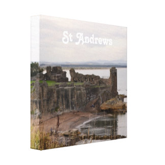 St Andrew's Castle Ruins Gallery Wrap Canvas
