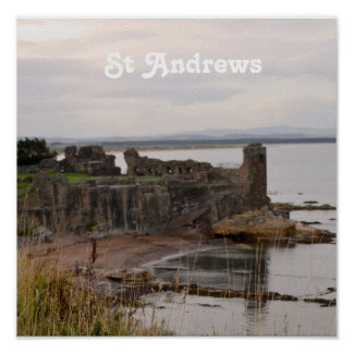 St Andrew's Castle Ruins Poster