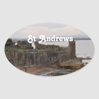 St Andrew's Castle Ruins Oval Stickers