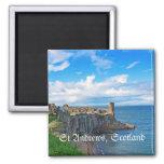 St Andrews Castle, Scotland 2 Inch Square Magnet
