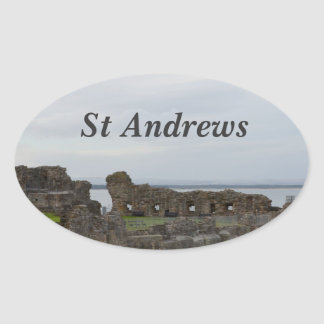 St Andrew's Castle Oval Sticker