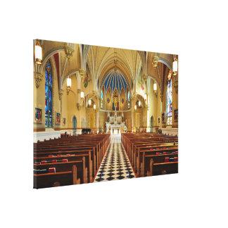 St Andrew's Catholic Church Roanoke Virginia Canvas Print
