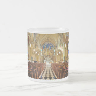 St Andrew's Catholic Church Roanoke Virginia Frosted Glass Coffee Mug