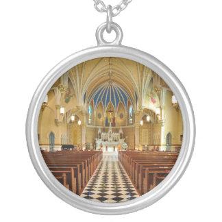 St Andrew's Catholic Church Roanoke Virginia Round Pendant Necklace