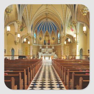 St Andrew's Catholic Church Roanoke Virginia Square Sticker