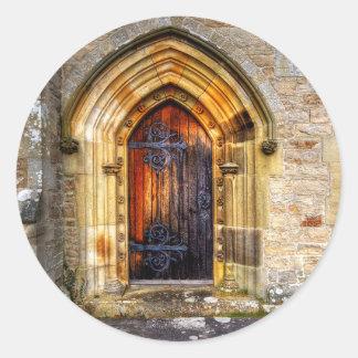 St Andrews Church, Aysgarth Classic Round Sticker