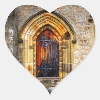 St Andrews Church, Aysgarth Heart Sticker