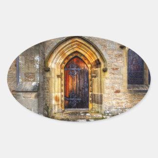 St Andrews Church, Aysgarth Oval Sticker