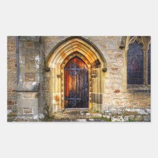 St Andrews Church, Aysgarth Rectangular Sticker