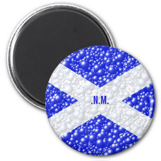 St Andrews Flag Bubble Textured 2 Inch Round Magnet
