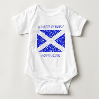 St Andrews Flag Bubble Textured Baby Bodysuit