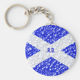 St Andrews Flag Bubble Textured Keychain