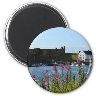 St Andrews Harbour and Wild Flowers Magnet