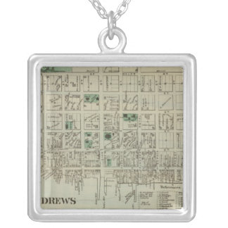 St Andrews NB Square Pendant Necklace