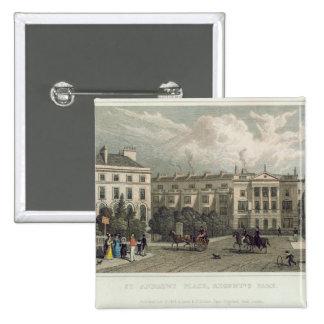 St Andrews Place Regents Park 1828 Pinback Button