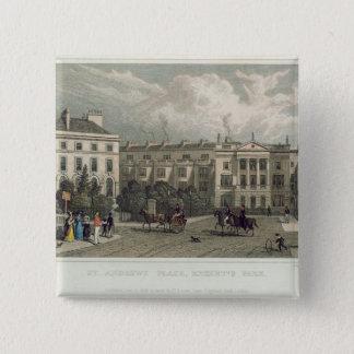St. Andrews Place, Regents Park, 1828 Pinback Button