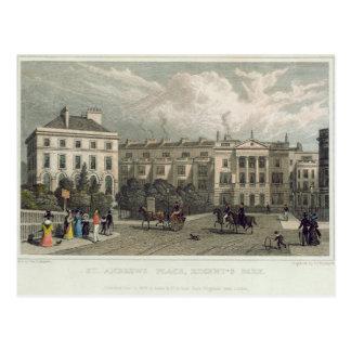 St. Andrews Place, Regents Park, 1828 Postcard