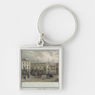 St. Andrews Place, Regents Park, 1828 Silver-Colored Square Keychain