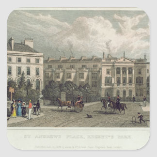 St. Andrews Place, Regents Park, 1828 Square Sticker