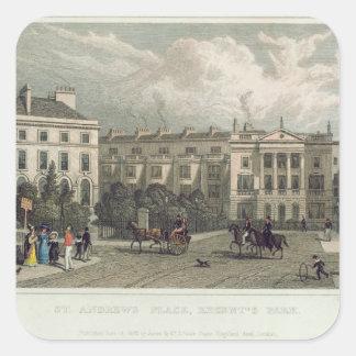 St. Andrews Place, Regents Park, 1828 Square Sticker