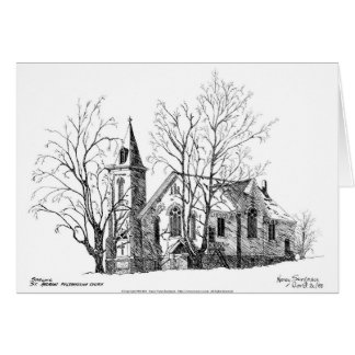 St. Andrews Presbyterian Church, Pen and Ink Card