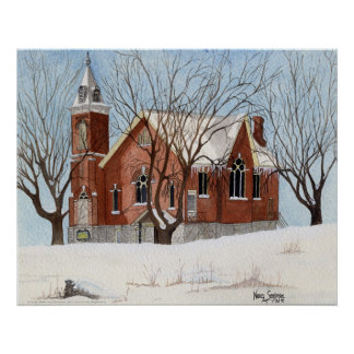 St. Andrews Presbyterian Church, Watercolor Poster