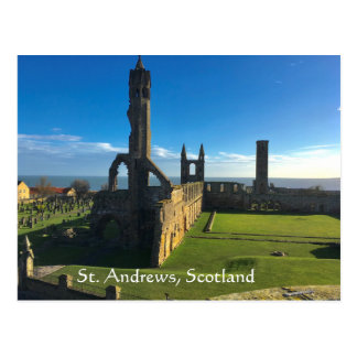 St. Andrews, Scotland, Cathedral Ruins in Sun Postcard