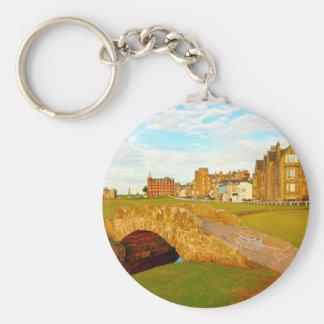 St Andrews, The Swilcan Bridge, Scotland Basic Round Button Keychain