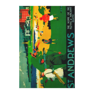 St. Andrews Vintage PosterEurope Canvas Print
