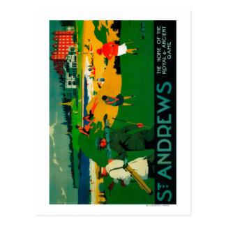 St. Andrews Vintage PosterEurope Postcard