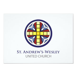 """St. Andrew's-Wesley Invitations 5"""" X 7"""" Invitation Card"""