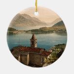 St Ángel, lago Como, Lombardía, Italia de Capello Ornamento De Navidad